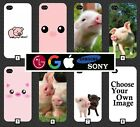 Pig Phone Case Cover Style Animal Pigs Farm Pattern Nature Wild Design Pink 346