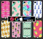 Pineapple Phone Case Cover Cute Pink Pattern Tumblr Novelty Fruit Cool Funny 349