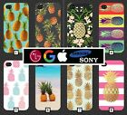 Pineapple Phone Case Cover Gold Pink Pattern Tumblr Novelty Fruit Cool Black 148