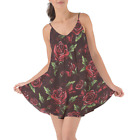 Red Rose With Thorns Beach Cover Up Dress XS-3XL
