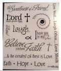 Religious Hope Love Faith Friend Live Well Laugh Often Phrase Scrapbook Stickers