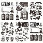 NEW Coffe set Silicone Transparent Rubber Stamp DIY Scrapbooking for Card Making