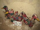 3 Handmade Country patchwork fabric duck bowl fillers Home Decor