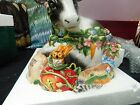Fitz and Floyd Classics Country Chic Cow and Animals Cookie Jar new in the box