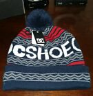 Mens DC shoes beanie hat one size multi colored blue red nwt
