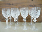 WATERFORD GLASS Crystal Set of 8 POWERSCOURT Claret Wine Glasses