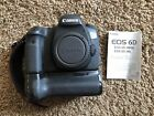 Canon EOS 6D 202MP Digital SLR Camera Black Body Batteries Grip Focusing