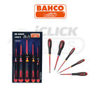 Bahco BE-9882S ERGO Insulated Electrician 5 Piece Screwdriver Set Slotted Pozi