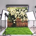 3x5Ft Photography Flower Fence Backdrop Photo Studio Tie Dyed Cotton Background