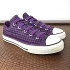 Converse All Star Girls Canvas Sneakers Junior Shoes Low Top Youth Kids 2 Purple