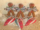 3 Gingerbread  Dolls Country Home Decor