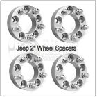 Set of 4 2 inch Jeep Hub Centric Wheel Spacers JK Wrangler Grand Cherokee 5x5