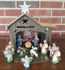 Vintage Nativity Set Stable Creche Christmas Display Made in Italy