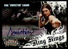 2008 Donruss Gina Carano Americana Ring Kings Autograph Card
