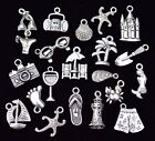 20pc FUN ON THE BEACH Charm Set size 14mm to 24mm Antiqued Tibetan Silver
