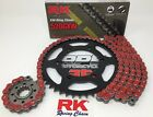 Red Ducati 620s Monster ie 2004-2006 RK GXW X-Ring Chain and Sprockets Kit