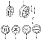 Genuine Subaru Wheel 723122171