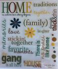Home Family Traditions House Memories Scrapbook Stickers