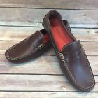 Women's COLE HAAN Trillby 7.5 B Brown Leather Driver Flats Penny Loafer Moc Shoe