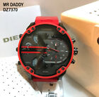 Diesel Mr. DADDY 2.0 Chrono Multiple Time Zone Red Silicon Strap DZ7370 Watch