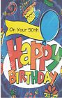Birthday Card with Envelope 50th