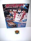 PINBALL MACHINE NOS Sales Flyer + Plastic Promo Keychain Williams ROLLERGAMES