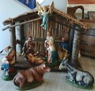 Vintage Nativity Set Stable Creche Christmas Made in Italy