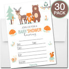 30 Baby Shower Invitations Boy or Girl with Envelopes Woodland Supplies