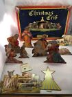 Christmas Crib Nativity Scene1933 Cardboard Stand up by Corncordia House w Box