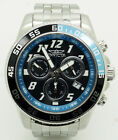 Mens Invicta Pro Diver 20478 S. Steel Chronograph Date 50mm Watch; Blue Hardcase