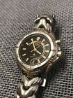 Men's Seiko Kinetic Sports Watch 100 Two-Tone Stainless Steel Black Dial Date