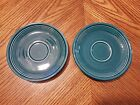 New HOMER LAUGHLIN Genuine Fiestaware JUNIPER 2 Saucers (only) for Tea Cups