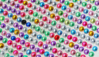 900Pcs Colorful RhinestonesPearl Self Adhesive Stick On Scrapbooking Craft Gems