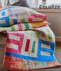 EQUALIZE Quilt Pattern Easy Piecing Bright Batiks from Magazine
