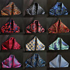 Classic Men's Handkerchief Pocket Square Vintage Floral Silk Chest Tower Hanky