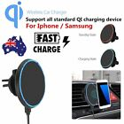 Qi Wireless Car Charger Magnetic Air Vent Mount Holder For iPhone X 8 Plus MY