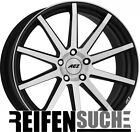 "4x AEZ Straight black polished 9.5x20"" ET40 LK5 120 ML 72.6 Alufelgen 20 Zoll"