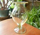 Art Deco Glass Vase - Green Foot Transitions to a Yellow top - Quality