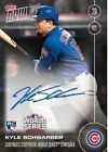 2016 Topps Now Kyle Schwarber RC Auto #631-B #'D 199 Chicago Cubs