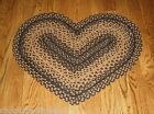Braided HEART Throw RUG*Primitive/French Country Urban Farmhouse Decor*New