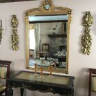 Designer Hand Made Empire Gold Leaf Mirror 5' H x 3'. 1 1/2 inch W