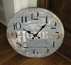 Country Blue Wall CLOCK*Farmhouse*French Country Kitchen*Primitive Home Decor