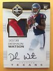 2017 Limited DESHAUN WATSON RC Auto 3 Color Patch 149 TEXANS #114 On Card