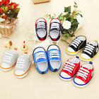 Newborn Baby Girls Boy Football Sneaker Anti slip Soft Sole Toddler Canvas Shoes
