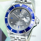 PAPERS 40MM Rolex 16610T Submariner Graphite Grey Diamond Dial #1685