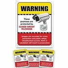 24 Hour Camra Warning Sign & Decals. Prevent Theft Vandalism and Loitering by...