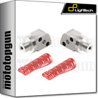 LIGHTECH REAR FOOTPEGS ORIGINAL REAR SETS RED HONDA CB 600 HORNET 07/13