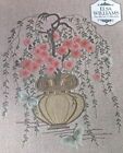 ELSA WILLIAMS Crewel EMBROIDERY Kit Cherry Blossom Bonsai Tree KC 326 Started