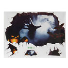 Halloween Party Home Decoration Wall Stickers Horrid Scare Scene Toys Props