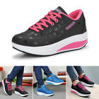 Women Ladies Casual Sneakers Sports Athletic Wedge Running Trainers Shoes Size